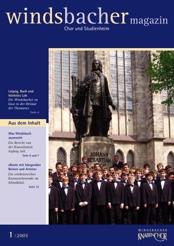 windsbacher 1-2005 - Windsbacher Knabenchor