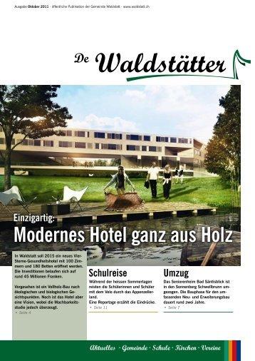 De Waldstätter - Oktober 2011 - Gemeinde Waldstatt