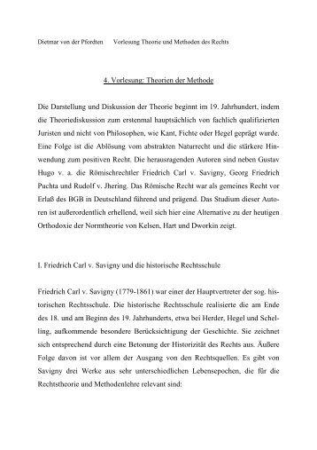 4. Vorlesung: Theorien der Methode Die Darstellung und Diskussion ...