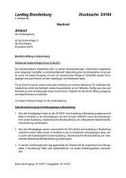 Landtag Brandenburg Drucksache 5/4164 - Land Brandenburg