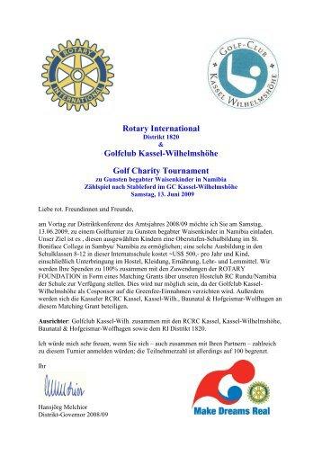 Rotary International Golfclub Kassel-Wilhelmshöhe Golf Charity ...