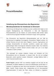 Verleihung des Ehrenzeichens des Bayerischen ...