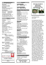 Kath. Pfarrei St. Michael Wilhermsdorf Pfarrnachrichten August ...