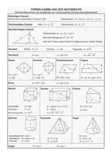 Formelsammlung mathe oberstufe pdf novel drug delivery for Statik formelsammlung
