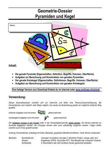 9. Prisma und Zylinder, Pyramide und Kegel - Mamtmann.de