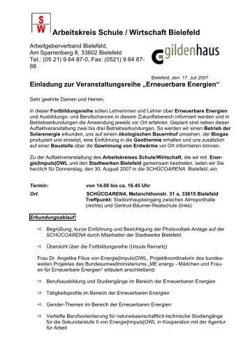 Arbeitskreis Schule / Wirtschaft Bielefeld