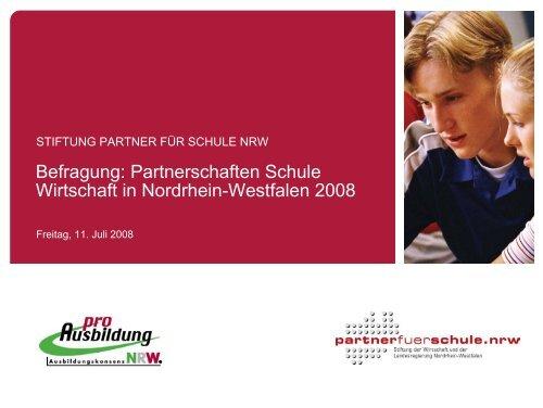 Befragung: Partnerschaften Schule Wirtschaft in Nordrhein ...