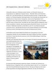 2012: Gespräch Schule – Wirtschaft in Mühlacker