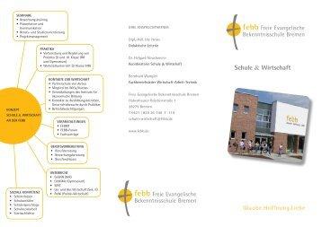 Schule & Wirtschaft - Freie Evangelische Bekenntnisschule Bremen