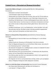 Protokoll Forum 1 - Landkreis Göppingen