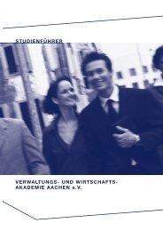 STUDIENFÜHRER VERWALTUNGS- UND WIRTSCHAFTS ... - VWA