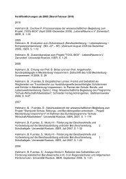Veröffentlichungen ab 2000 (Stand Februar 2010) - Universität ...