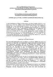 Zielvereinbarung - Ernst-Moritz-Arndt-Universität Greifswald