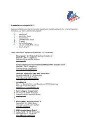 Ausstellerverzeichnis 2011: - KickStart Messe Magdeburg