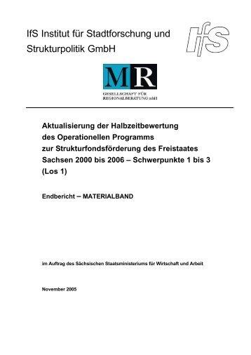 Materialbericht EFRE - Strukturfonds in Sachsen - Freistaat Sachsen