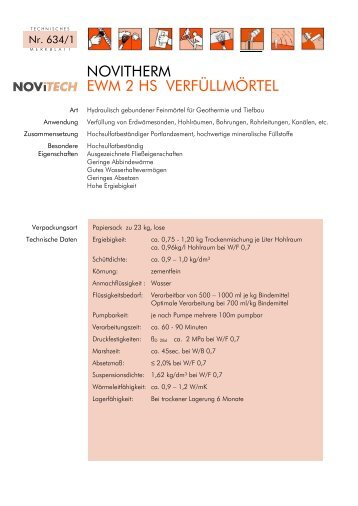 NOVITHERM EWM 2 HS - Schretter & CIE