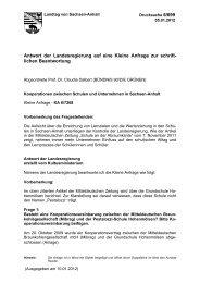Antwort der Landesregierung - Der Landtag von Sachsen-Anhalt