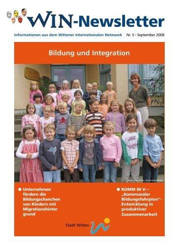 Newsletter Nr. 5 - Wittener Internationales Netzwerk (WIN)
