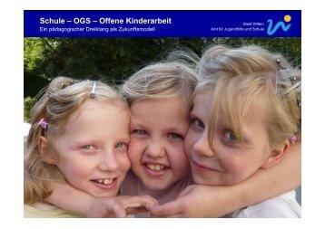Schule – OGS – Offene Kinderarbeit - Kulturelle Bildung in Schule ...