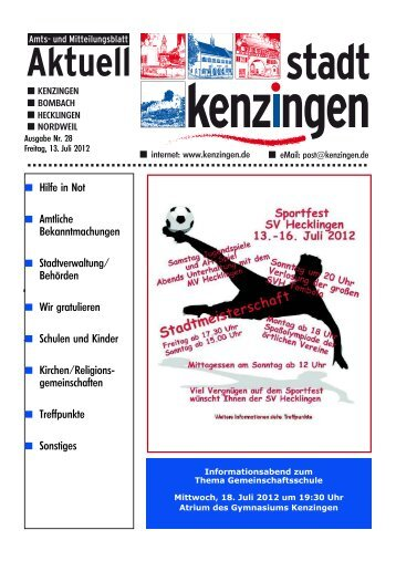 Ausgabe 28 2012 - Kenzingen