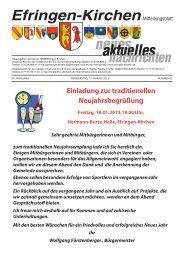 neues aktuelles - Gemeinde Efringen-Kirchen