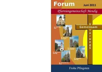 Forum Juni 2011 Frohe Pfingsten - Pfarreiengemeinschaft Mendig