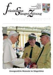 Unvergessliche Momente im Sängerleben - Fränkischer Sängerbund