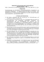 Richtlinien für Schulwanderungen und Schulfahrten - Sichere Schule