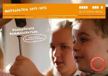 Mediadaten 2011-2012 - Blattwerk Media