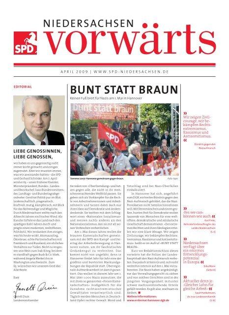 BUNT STATT BRAUN - SPD Niedersachsen