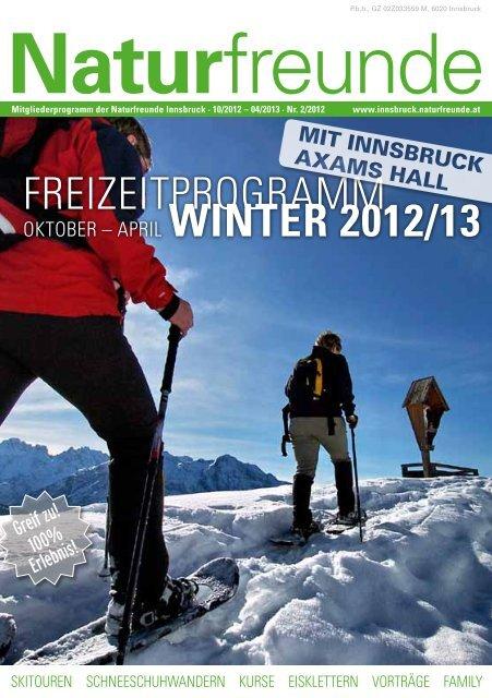 Winter Programm Innsbruck 2012/13 - Naturfreunde