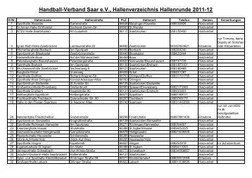 Hallenverzeichnis 2011-2012 - TV Altenkessel Handball