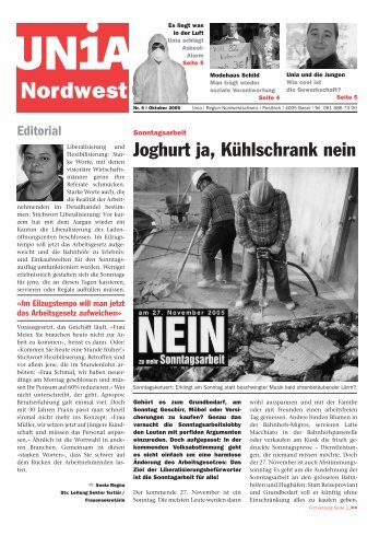 Download Unia Nordwest Nr. 4 (PDF) - in.f.a.m. Medienbüro