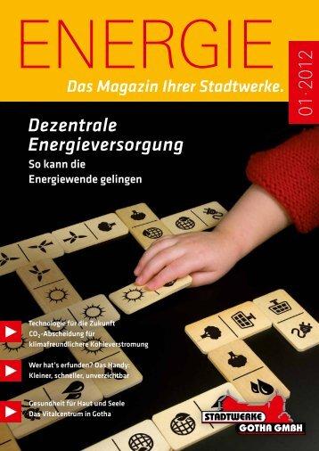 Dezentrale Energieversorgung - Stadtwerke Gotha