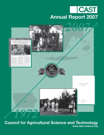 Annual Report 2007 - Council for Agricultural Science and Technology
