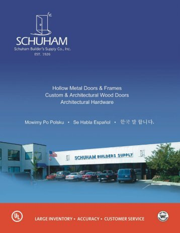 Schuham Complete Catalog (PDF) - Schuham Builder's Supply Co ...