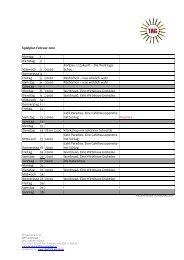 Spielplan Februar 2010 - Das Tag