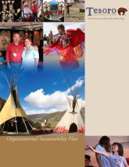 2012 sustainability plan - the Tesoro Cultural Center