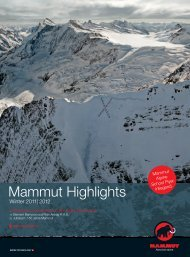 Mammut Highlights - Mammut Sports Group