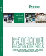 PROTECTION RELAYS & CONTROLS CATALOG - Littelfuse