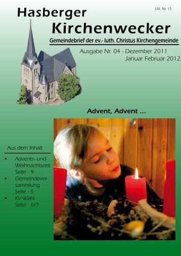 Dez 2011 Januar Februar 2012 - Evangelische Kirche Hasbergen