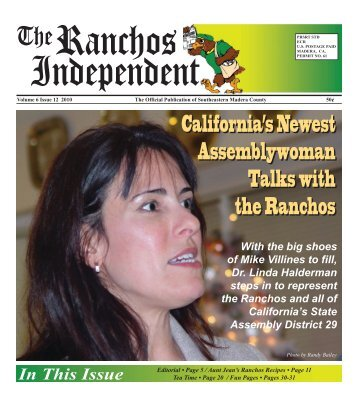 California's Newest Assemblywoman Talks with ... - theRanchos.com