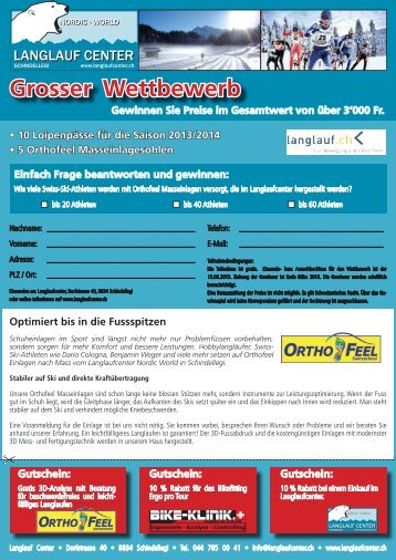 Langlaufcenter Wettbewerb - Fit for Life