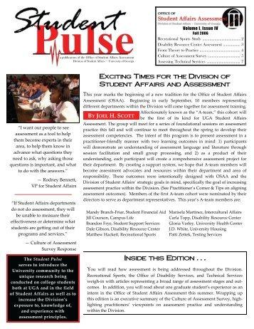 Fall 2006 Issue 8.5x11 - University of Georgia