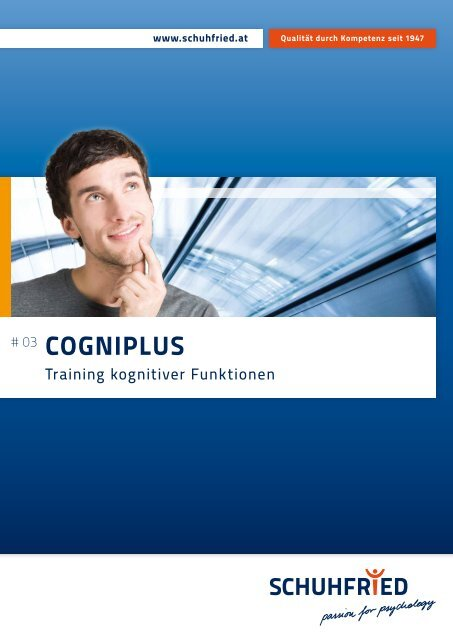CogniPlus. Training kognitiver Funktionen - SCHUHFRIED GmbH