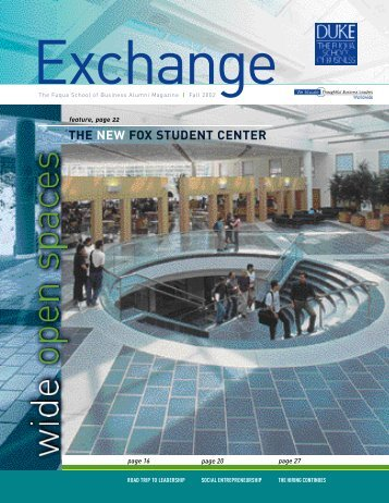 thenew fox student center - Duke University's Fuqua School of ...