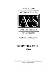Download 2009 Summer & Fall Advising Guide - College of Arts ...