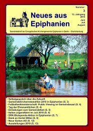 Juni bis August 2010 - Epiphanien