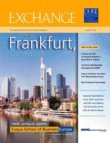 Exchange Summer 2001 - Duke University's Fuqua School of ...