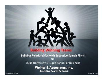 Building Winning Teams - Duke University's Fuqua School of Business
